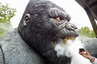 Emulational Animatronic King Kong Gorilla For Amusement Theme Park