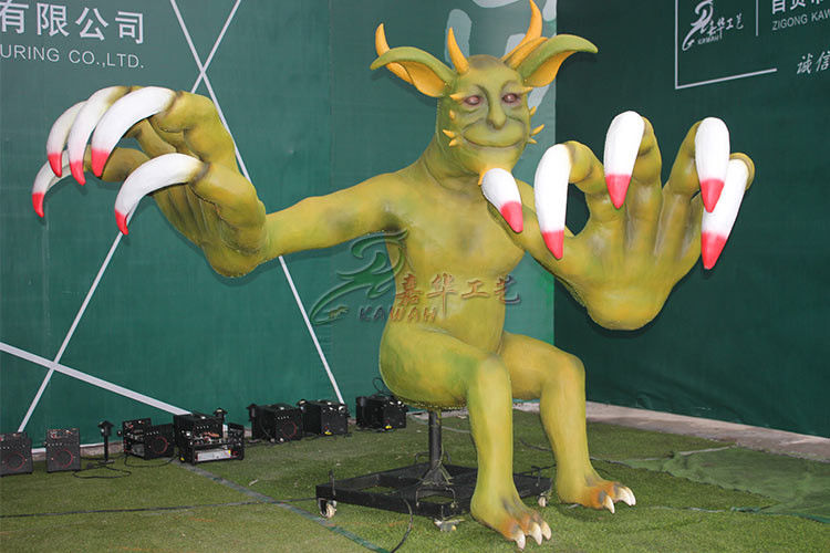 Handmade Silicone Rubber Animatronic Monster Life Size For Entertainment Park